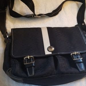 Black modern coach laptop bag